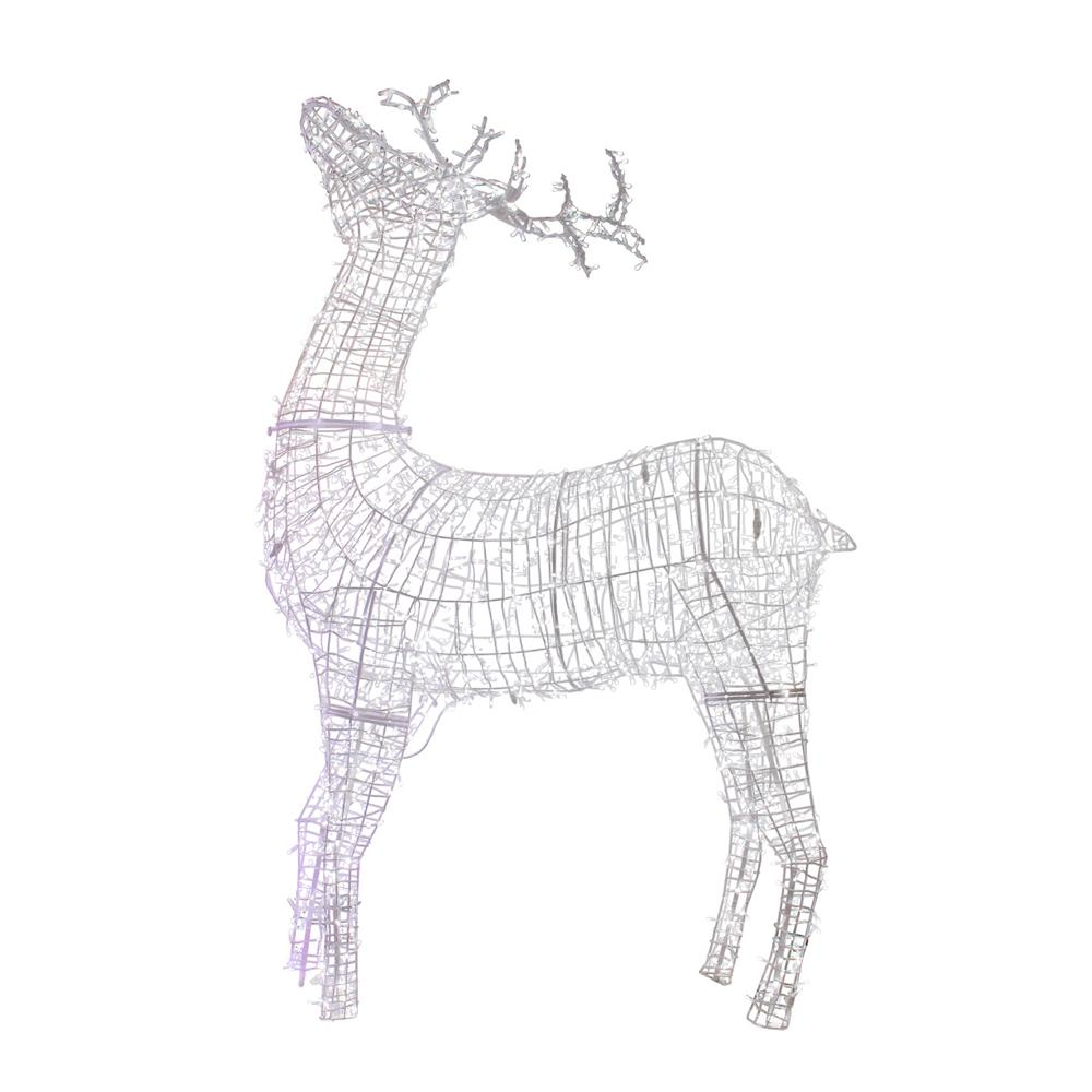 Northlight 115 In Christmas Commercial Size White Reindeer Lighted Outdoor Decoration