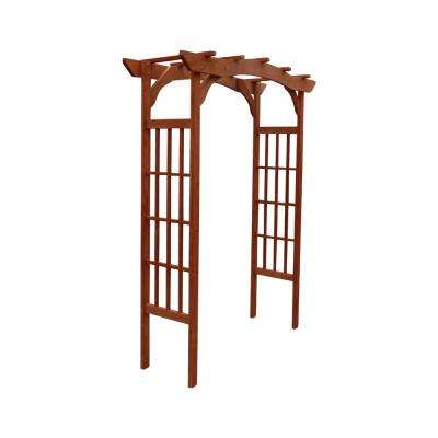 60 in. W x 24 in. D x 80 in. H Wooden Brown Arbor
