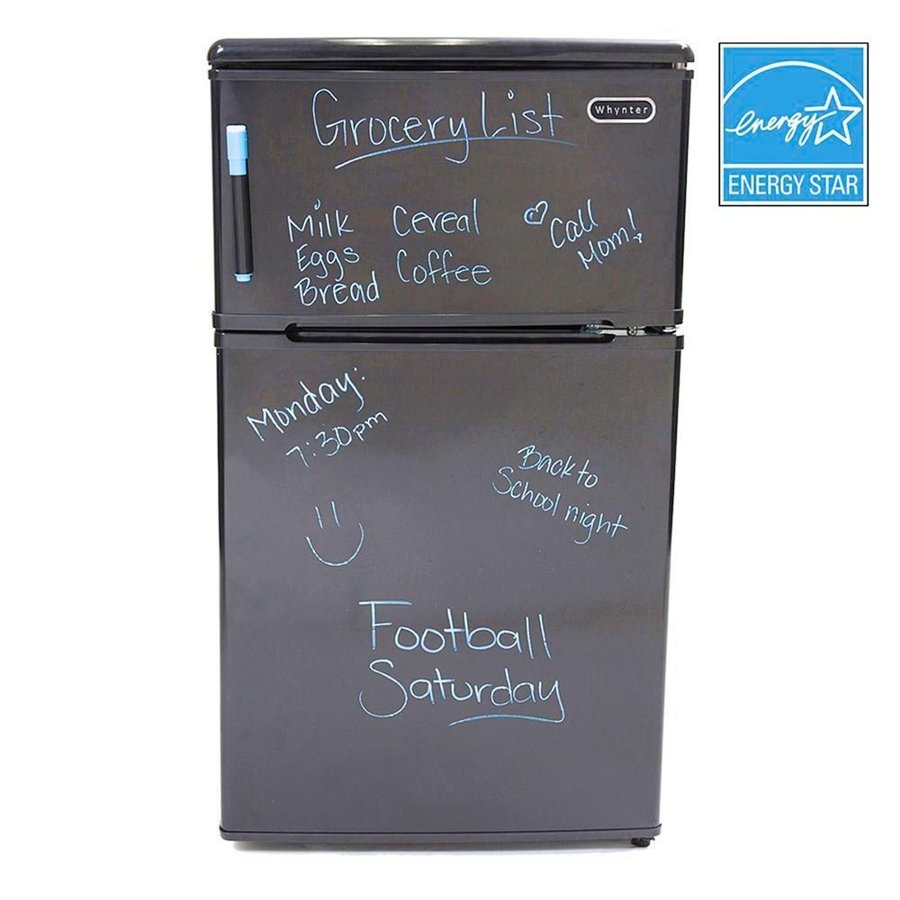 3.1 cu. ft. Mini Refrigerator/Freezer in Black Dry-Erase