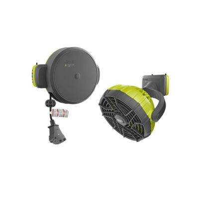 Extension Cord Reel and Fan Accessory