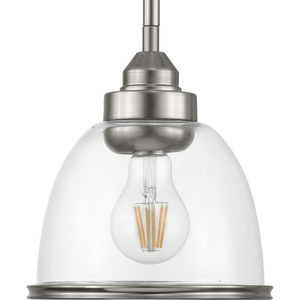 Saluda 1-Light Brushed Nickel Pendant