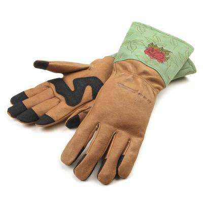 Women's M Signature Thorn Rose Gloves
