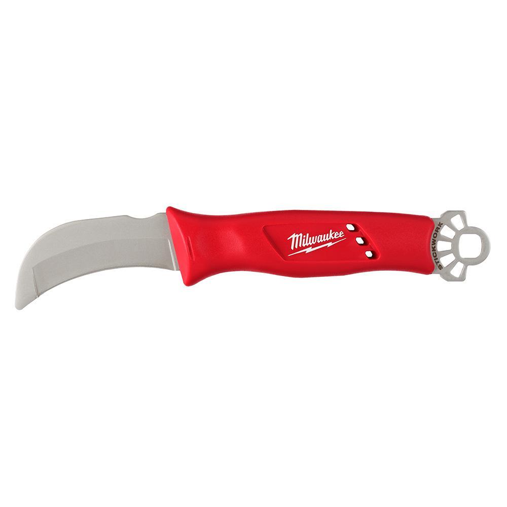 Lineman's Blunt Tip Hawkbill Knife with STICKWORK 3-in-1 Ring