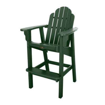 DuraWood Essentials Outdoor Plastic High Dining Chair in Pawley's Green