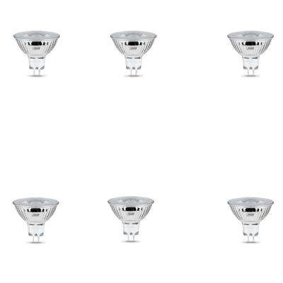 50-Watt Equivalent MR16 GU5.3 Dimmable LED 90+ CRI Flood Light Bulb, Bright White (6-Pack)