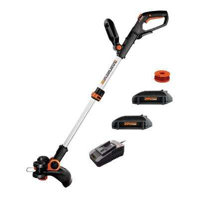 12 in. 20-Volt Max Lithium-Ion Cordless Grass Trimmer/Edger with Two 2.0 Ah Batteries and One 2 Amp Charger