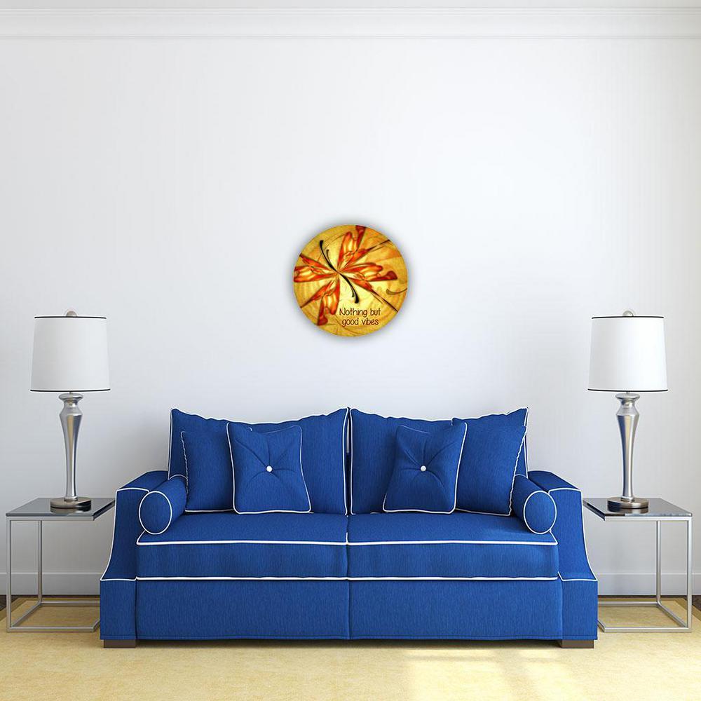 Good Vibes Steel Motivational Wall Art