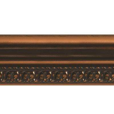 Grand Baroque 1 in. x 6 in. x 96 in. Wood Ceiling Crown Molding in Oil Rubbed Bronze
