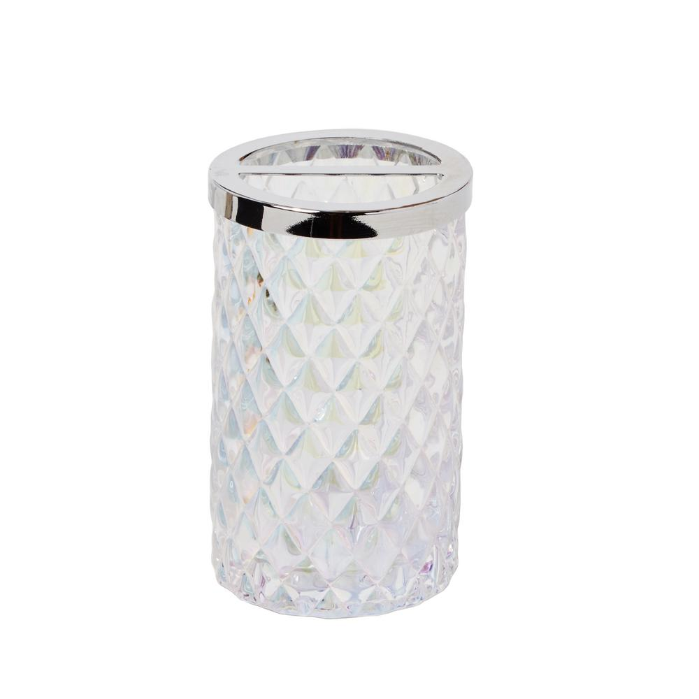 SKL Home Frosted Free Standing Toothbrush Holder in Frosty