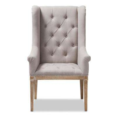 Cedulie Beige Fabric Upholstered Lounge Chair