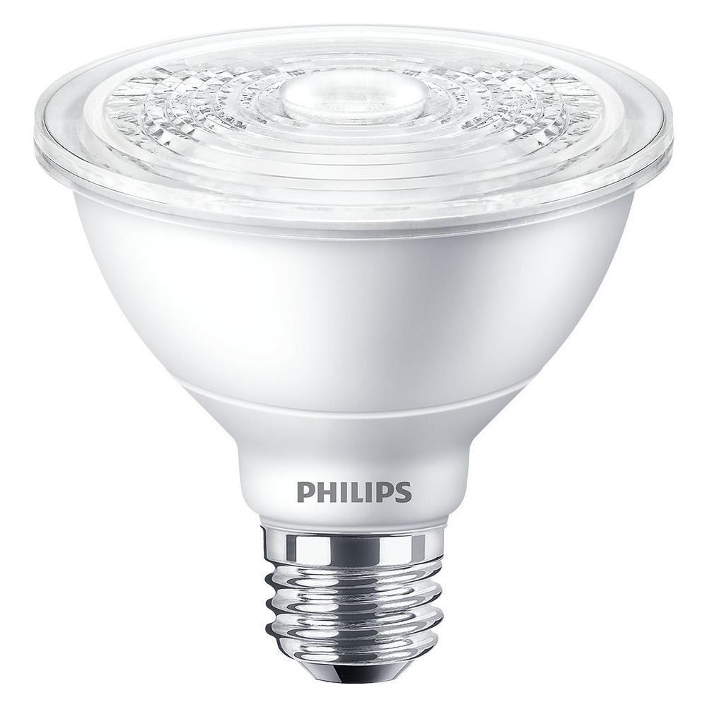 Philips 120 Watt Equivalent Daylight 5000k Par38 Dimmable Classic Glass Led Flood Light Bulb
