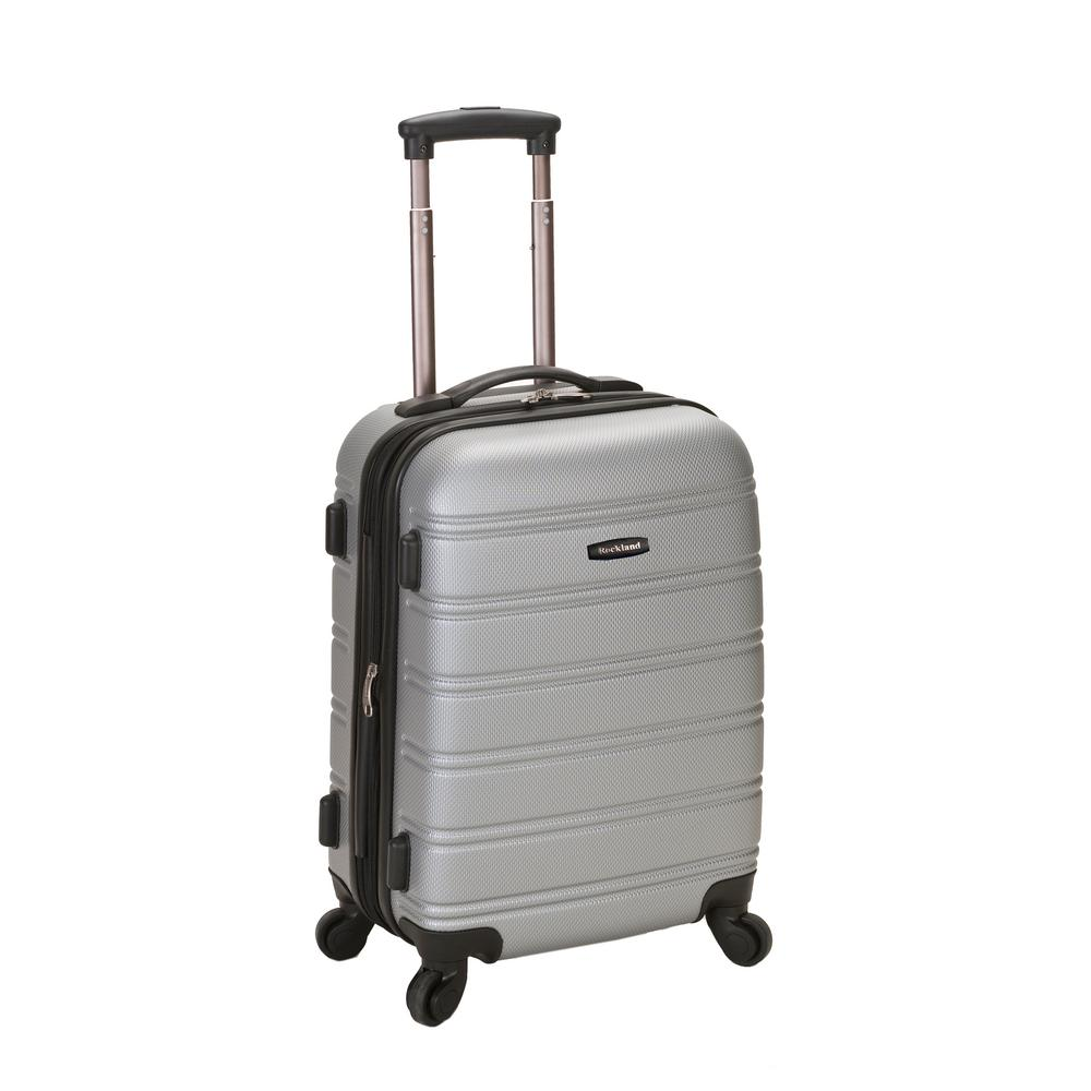 Rockland Melbourne 20 in. Expandable Carry on Hardside Spinner Luggage, Silver was $120.0 now $58.8 (51.0% off)