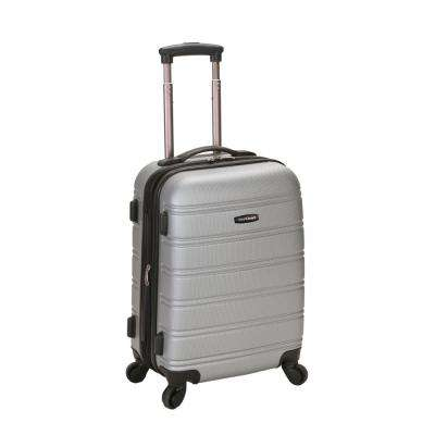 Melbourne 20 in. Expandable Carry on Hardside Spinner Luggage, Silver