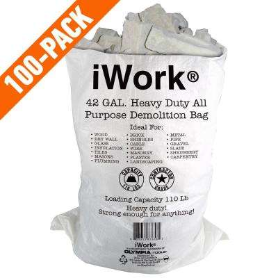 42 Gal. Contractor Trash Demo Bags (100-Count)