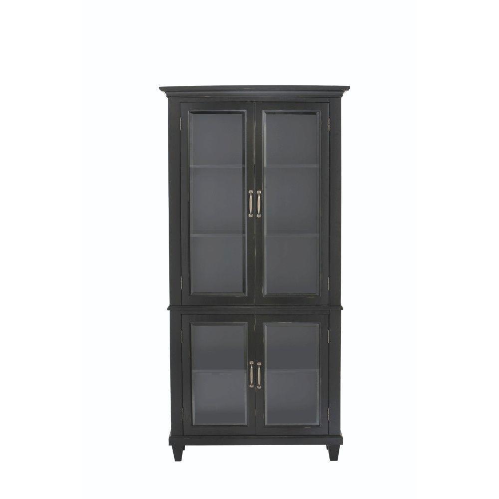 Martin Black Glass Door Bookcase