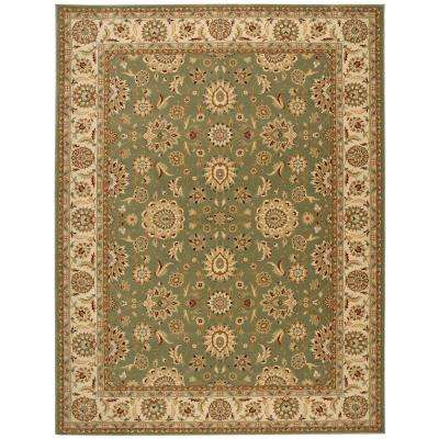 Persian Crown Suret Green 9 ft. x 13 ft. Area Rug