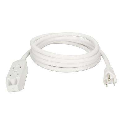 25 ft. 3-Outlet 3-Prong Extension Cord - White
