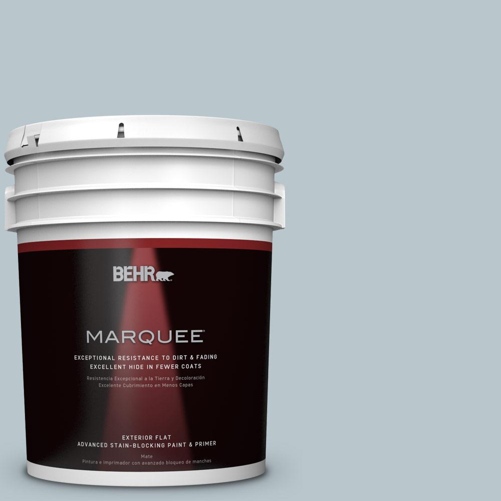 5-gal. #N480-2 Flowing Breeze Flat Exterior Paint