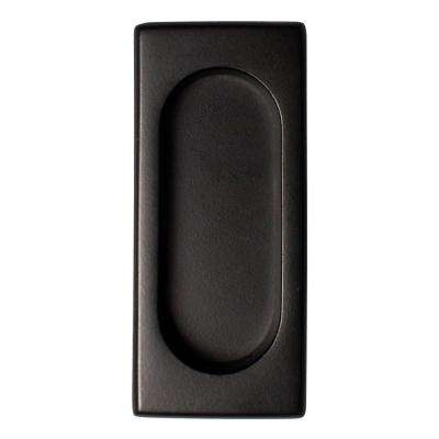 3-7/8 in. x 1-5/8 in. x 3/8 in. Paint Black Large Flush Pull
