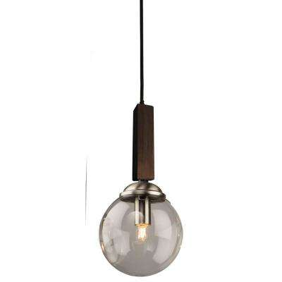 1-Light Deep Expresso Brown Pendant