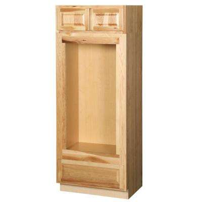 Hampton Assembled 33x84x24 in. Double Oven Kitchen Cabinet in Natural Hickory
