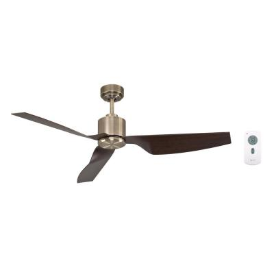 Climate II Antique Brass and Walnut 50 in. DC Ceiling Fan