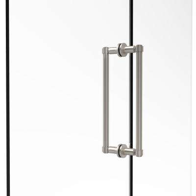 Contemporary 12 in. Back-to-Back Shower Door Pull in Satin Nickel