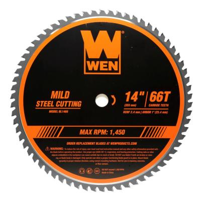 14 in. 66-Tooth Carbide-Tipped Professional Metal Saw Blade for Mild Steel Cutting