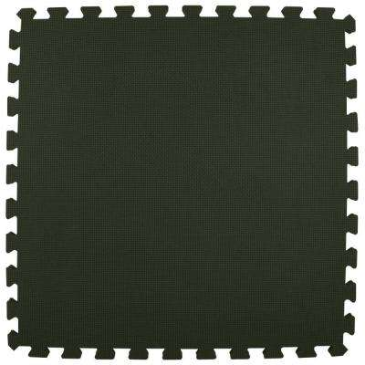 Premium Black 24 in. x 24 in. x 5/8 in. Foam Interlocking Floor Mat (Case of 25)