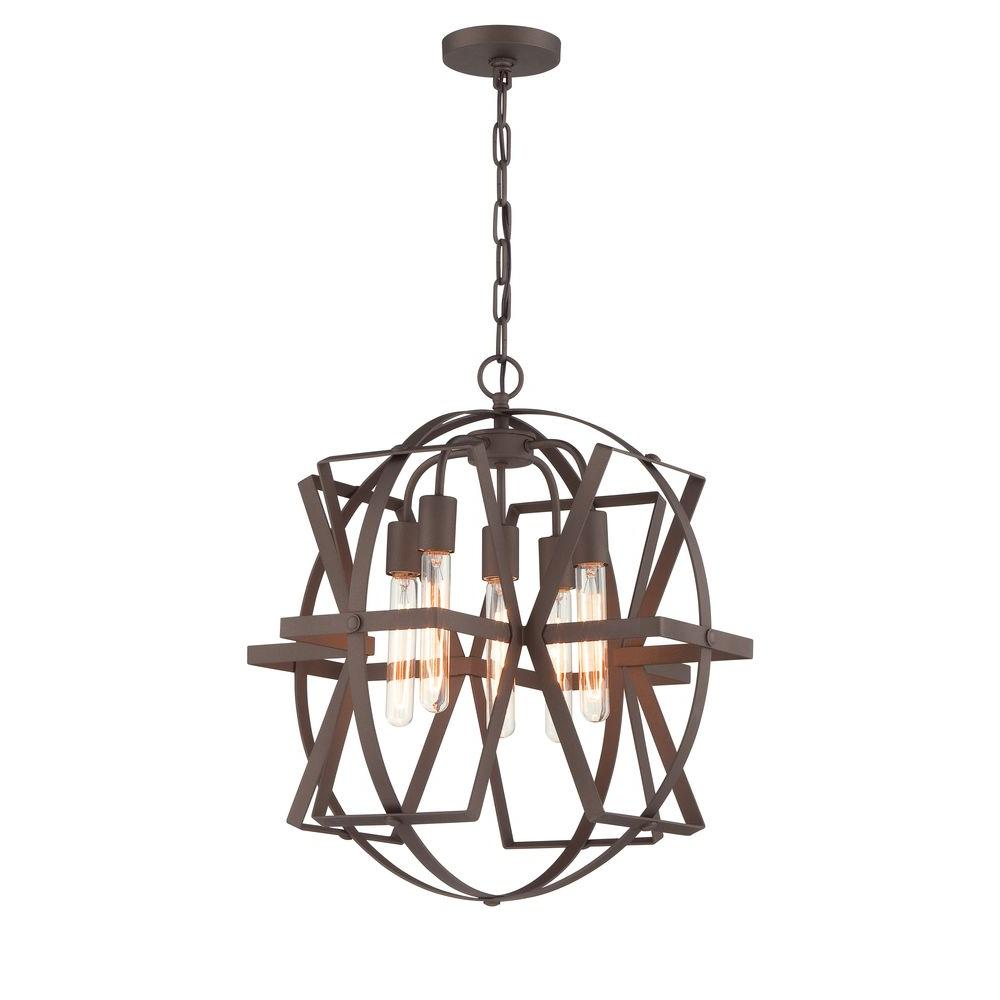 Varaluz Reel 5-Light Rustic Bronze Pendant