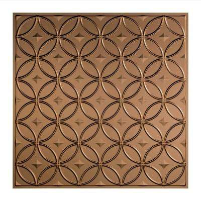Rings - 2 ft. x 2 ft. Lay-in Ceiling Tile in Argent Bronze