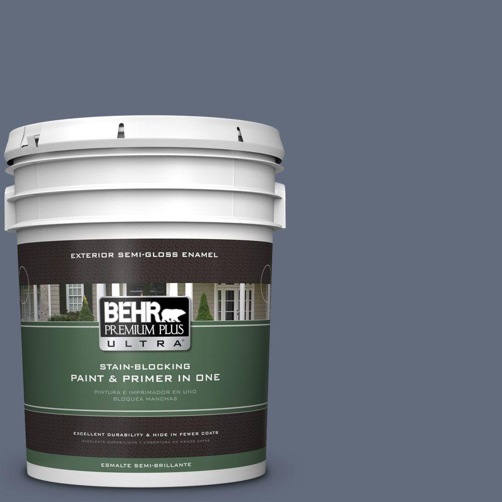 5-gal. #BNC-29 Dark Room Semi-Gloss Enamel Exterior Paint