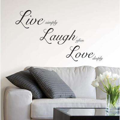 19.5 in. x 17.25 in. Live Laugh Love Wall Decal