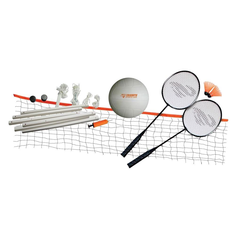 Triumph Sports USA Volleyball/Badminton Combo Set