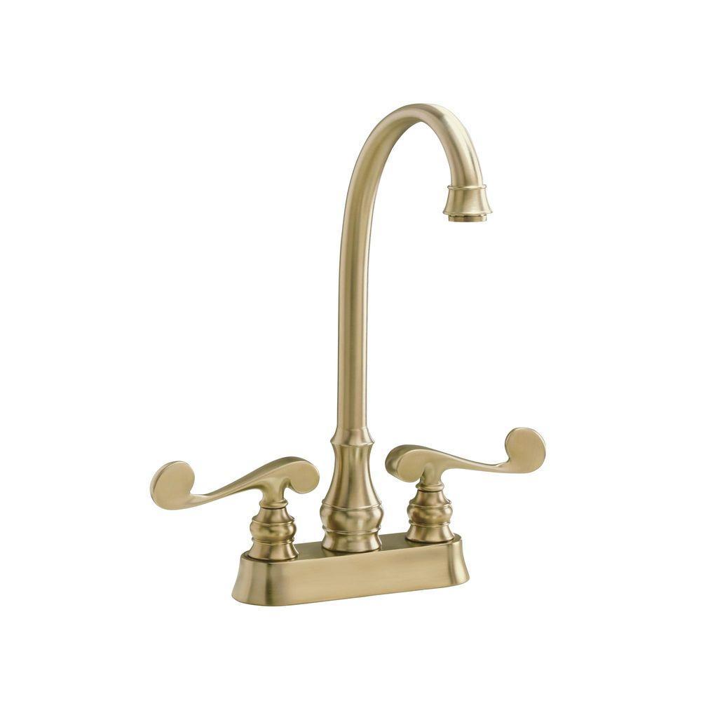 Kohler revival 2 handle bar faucet in vibrant brushed for Vibrant brushed bronze bathroom lighting