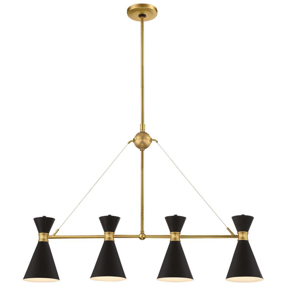 Conic 4-Light Honey Gold Billiard Light