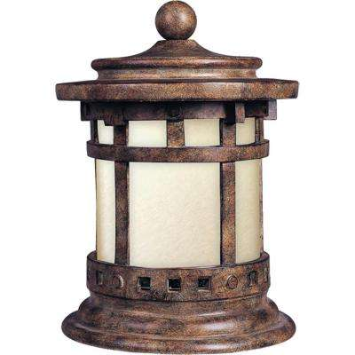 Hardwired deck post cap lights deck lighting outdoor lighting santa barbara ee 1 light sienna outdoor deck lantern aloadofball Gallery