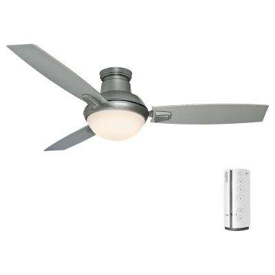 Verse 54 in. LED Indoor/Outdoor Satin Nickel Ceiling Fan with Remote