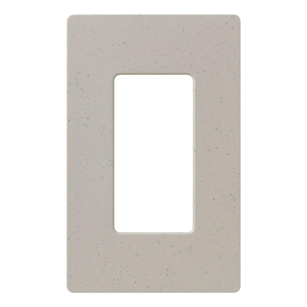 Claro 1 Gang Decorator Wallplate, Stone