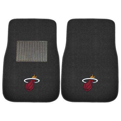 NBA Miami Heat 2-Piece 17 in. x 25.5 in. Carpet Embroidered Car Mat