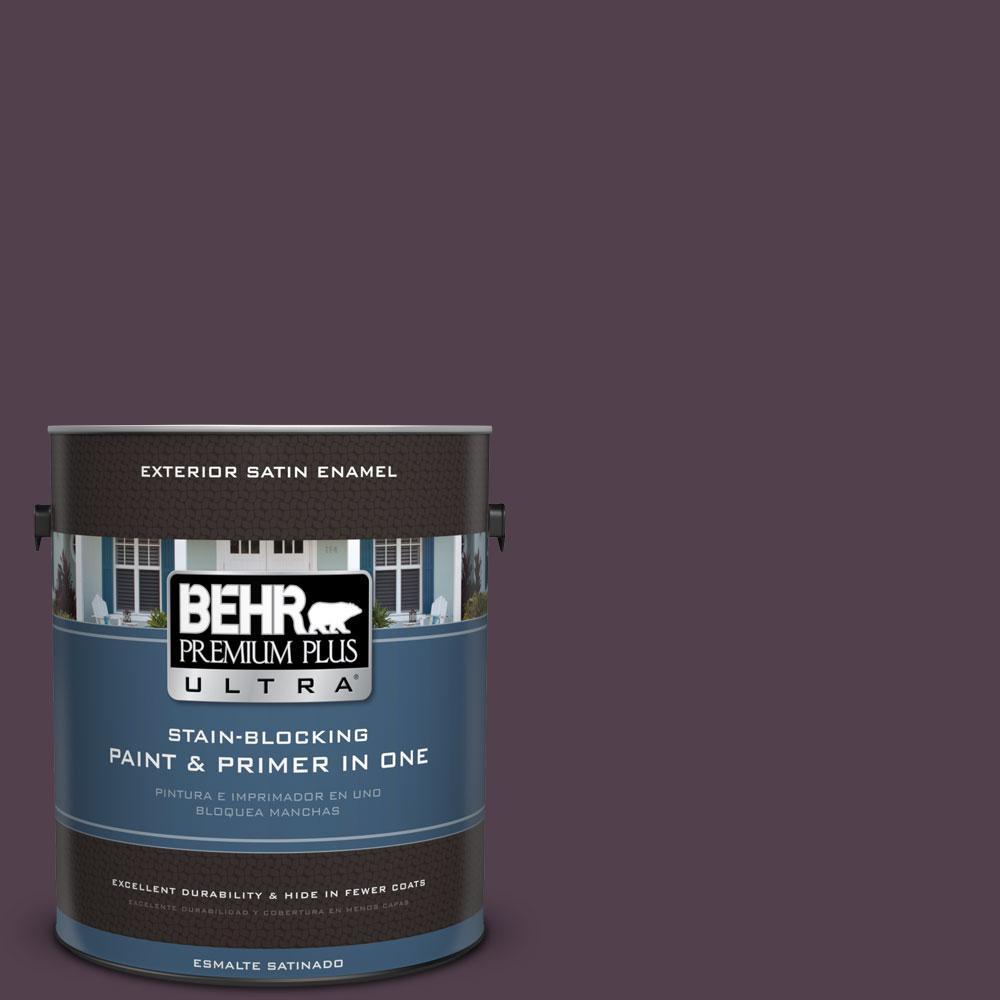 BEHR Premium Plus Ultra 1-gal. #680F-7 Baritone Satin Enamel Exterior Paint
