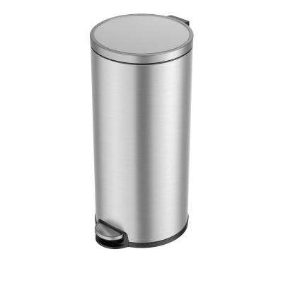 Eva Stainless Steel 30 Liter/7.9 Gallon Round Step Trash Can
