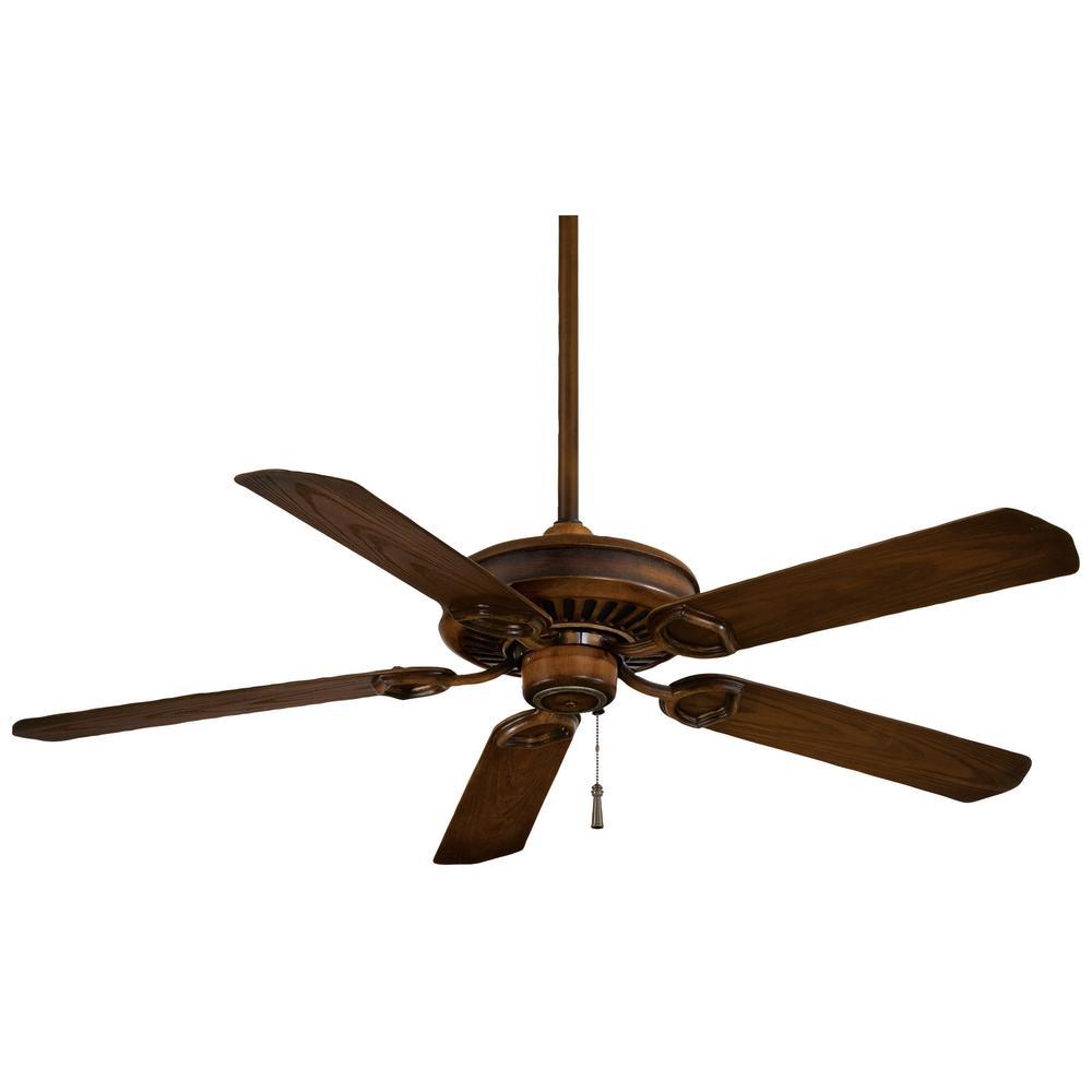 Sundowner 54 in. Indoor/Outdoor Mossoro Walnut Ceiling Fan