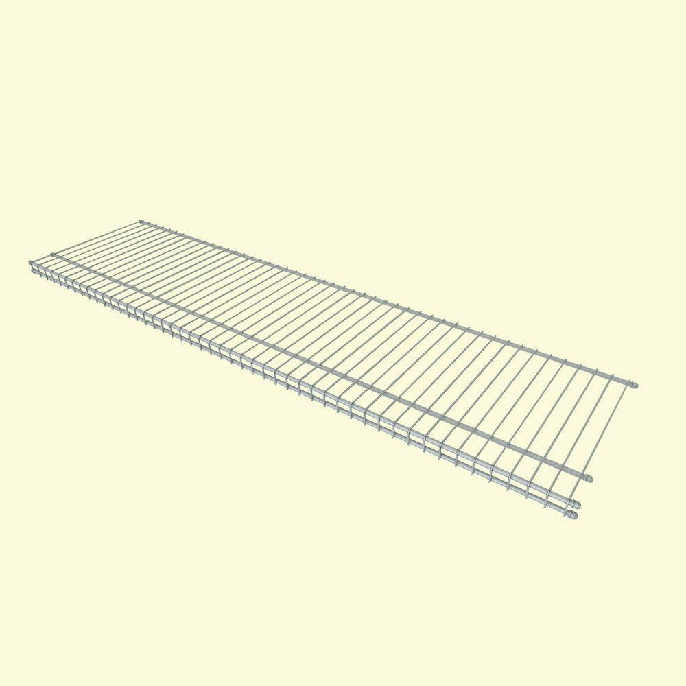 Superslide Ventilated Wire Shelving Track Fixed Mount