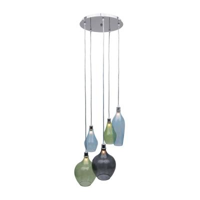 Bareat 5-Light Multi-Colored Pendant