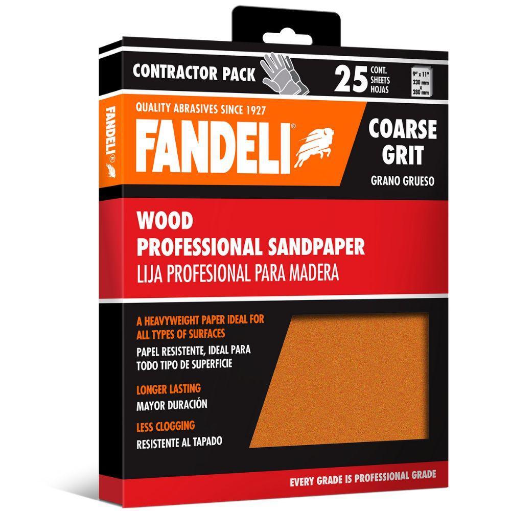 9 in. x 11 in. Coarse Aluminum Oxide Sandpaper (25-Pack)