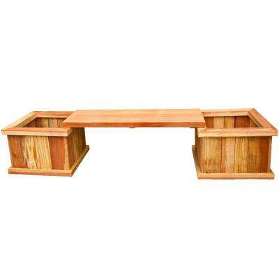 83 in. Redwood Planter Bench Kit