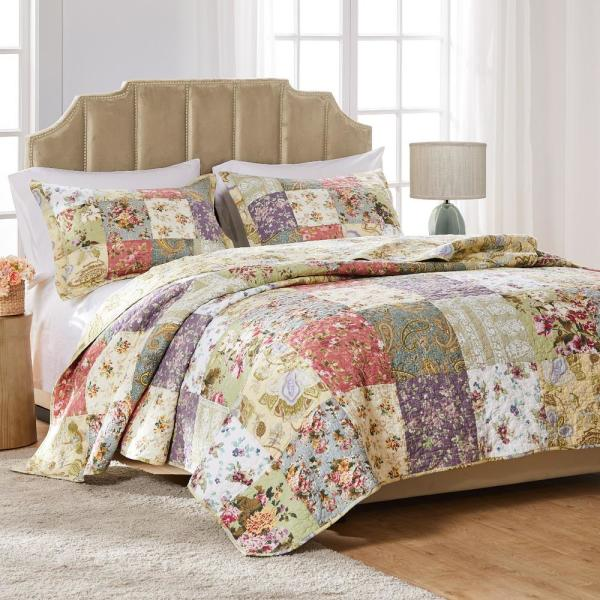 Blooming Prairie 3-Piece Multicolored King Set