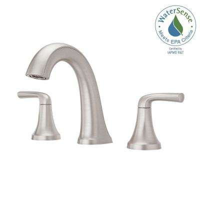 Ladera 8 In. Widespread 2 Handle Bathroom Faucet In Spot Defense Brushed  Nickel