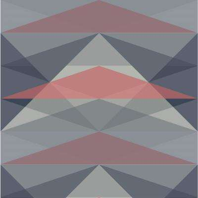 Debut Collection Sundance in Dusty Blue/Coral Removable and Repositionable Wallpaper